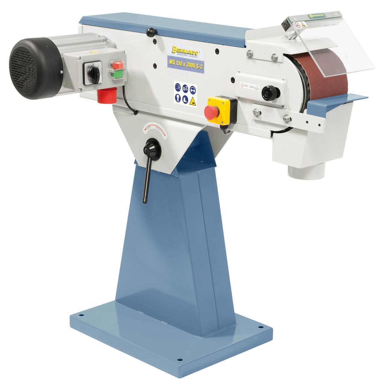 MS 150 x 2000 S-2 båndsliber med 2 hastigheder
