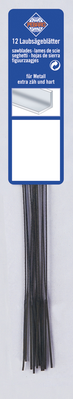 Image of   Fret sawblade 130 mm grade 0 - fine for metal (12 pcs.)