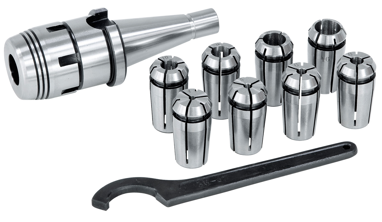 Fræserspændetænger OZ-Set, ISO 50, 4 - 16 mm