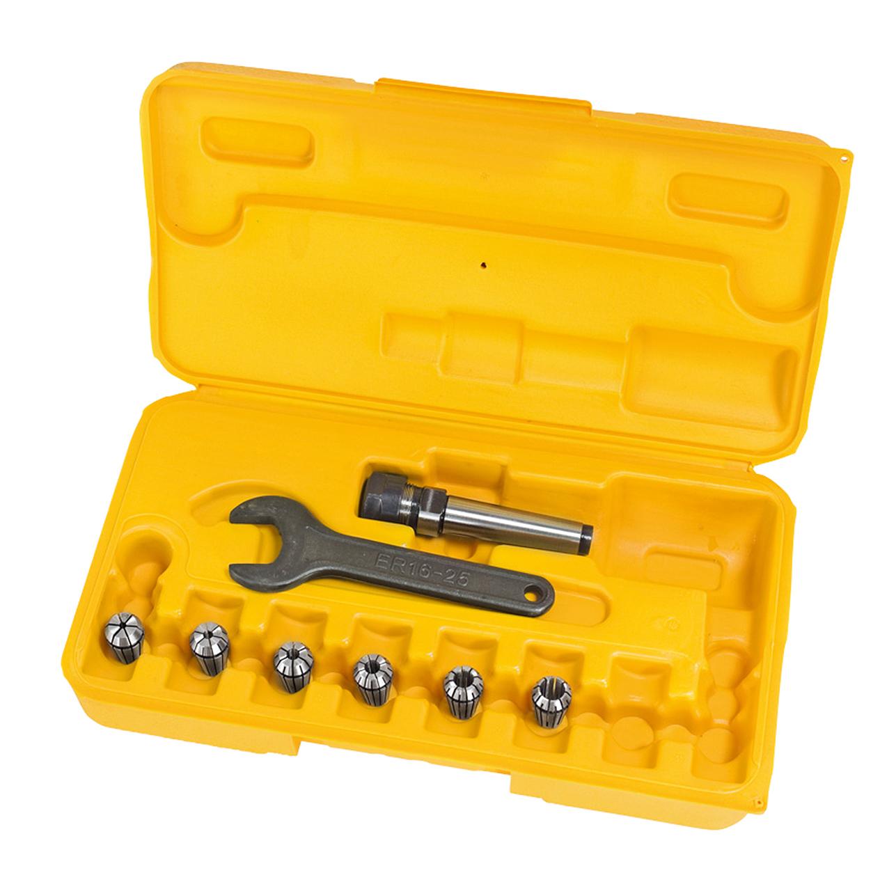 Fræse-spændetænger i sæt- ER 16, MK 2, 3 - 10 mm