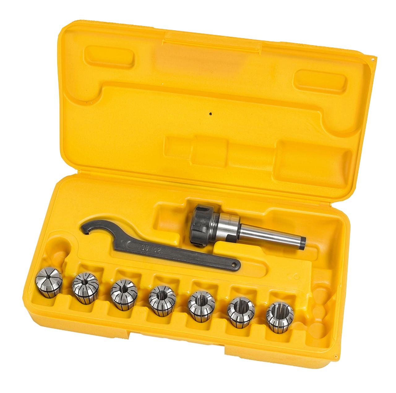 Spændetangssæt ER25, MK 2, 10 stk 3-16mm