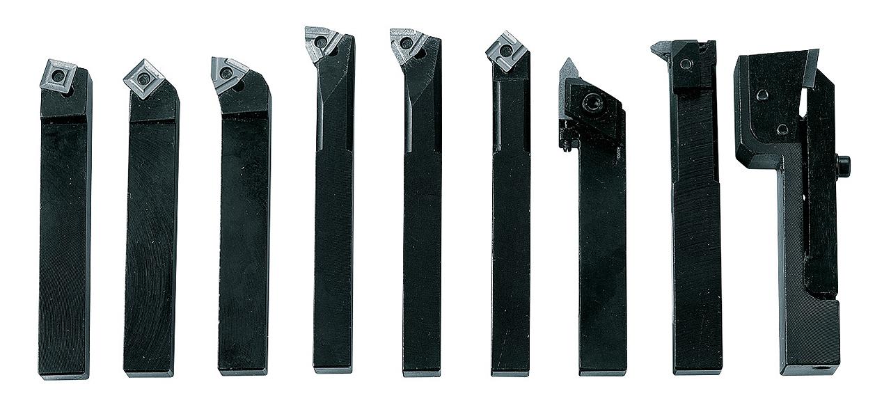 Drejestål i sæt med HM-vendeplatter, 12 mm, Sæt C