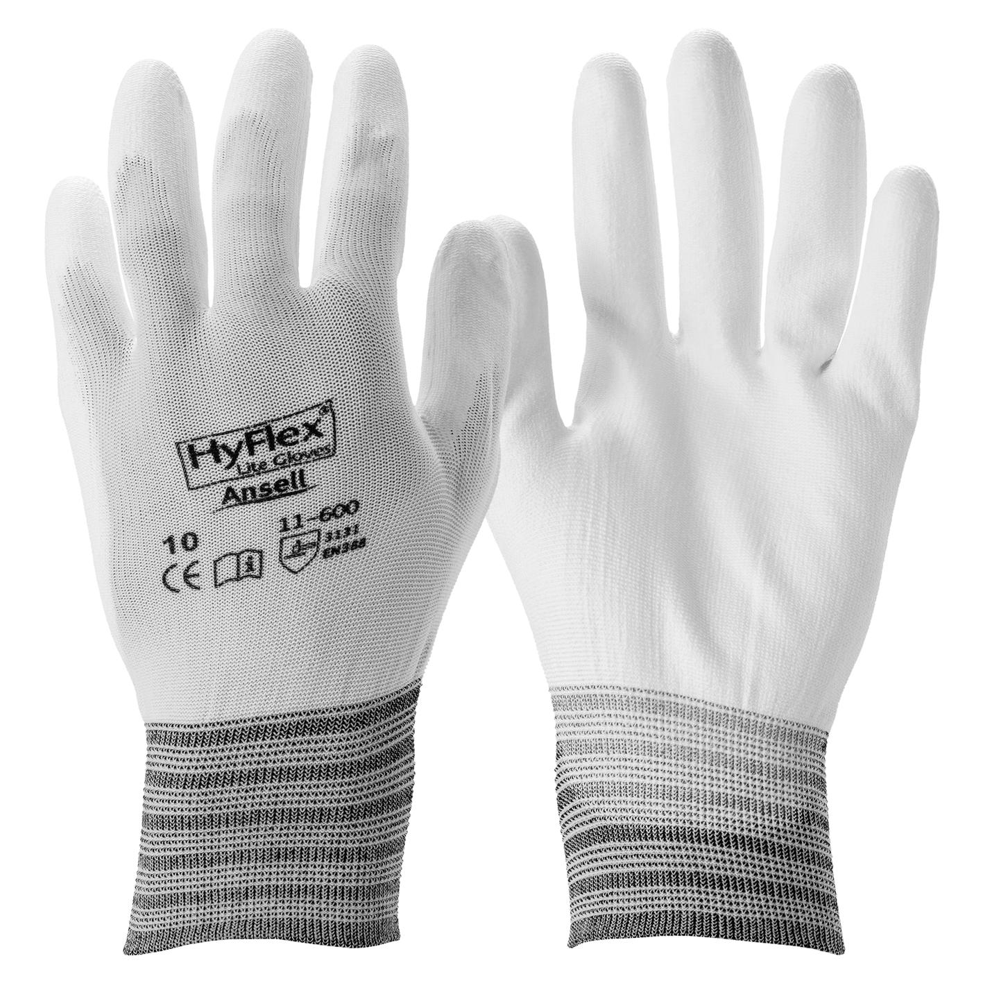 Image of   Hyflex handske, PU, hvid