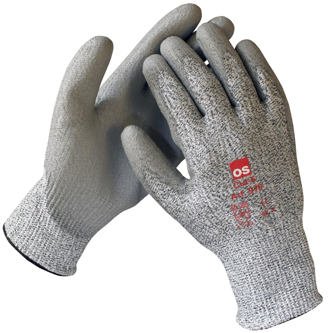 Image of   Cut-5 handske, PU ½-dyp